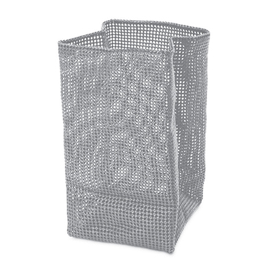 Silver Laundry Basket
