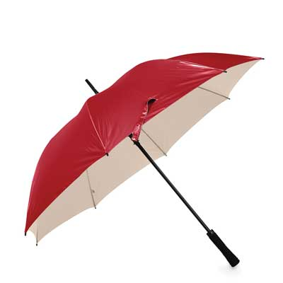 Golf Automatic Umbrella Red/Antique Gold
