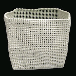 White Medium Basket