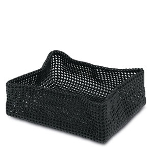 Black Rectangular Basket