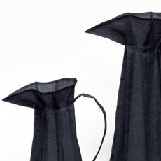 Black Pleated Cotton Jugs - Click Image to Close