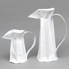 White Cotton Pleated Jug