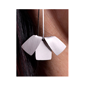 Silver Flat 'Flip' Earrings