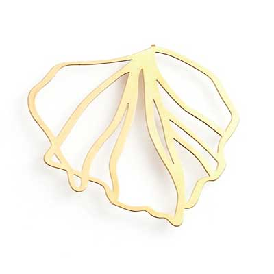 Gold Frond Brooch