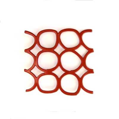Red Honeycomb Brooch