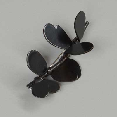 Black Leaf Brooch