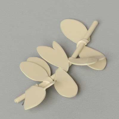 Cream Leaf Brooch