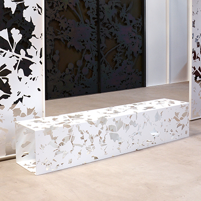 White Gingko Bench (2m)