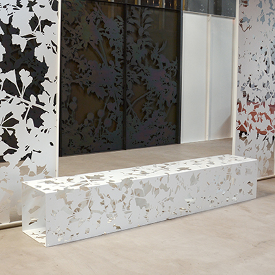 White Gingko Bench (2.4m)