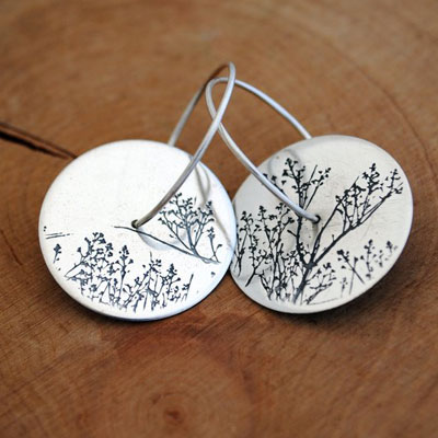 Large Etched Hoops