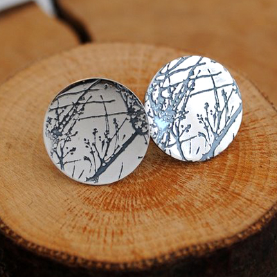 Medium Etched Studs