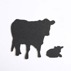 Med. Charcoal Cow & Calf