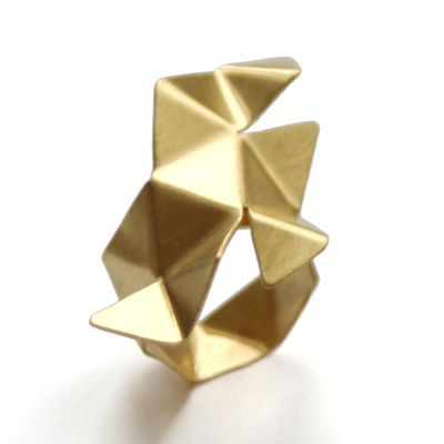 Gold Origami Ring