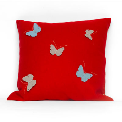 Red Butterfly Cushion