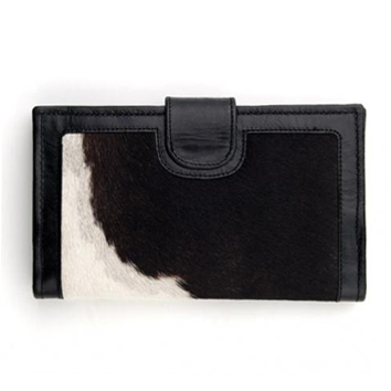 Black and White Cow Hide Wallet