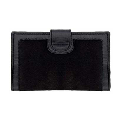 Black Pantha Cow Hide Wallet