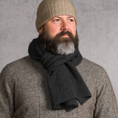 Charcoal Monti Scarf