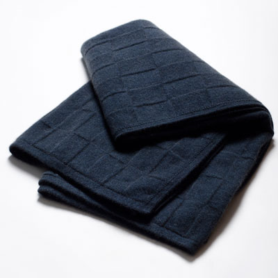 Bluewash Square Throw