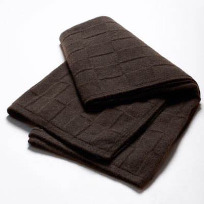 Ebony Square Throw