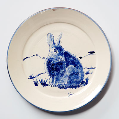 Shy Rabbit Plate