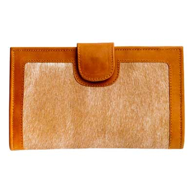 Beige Cow Hide Wallet