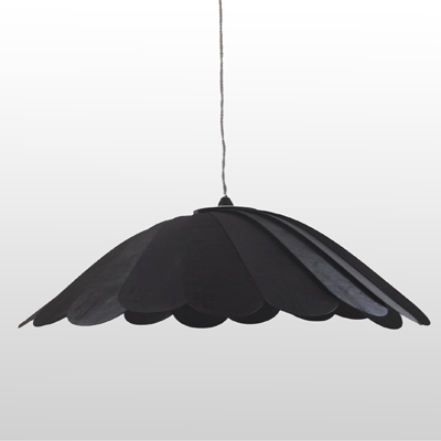 FanDeck Lamp Shade with Black Stain