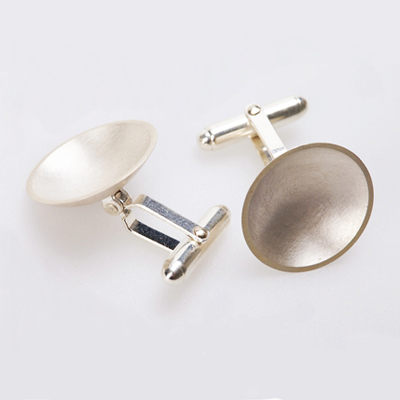 Sterling Dome Cufflinks