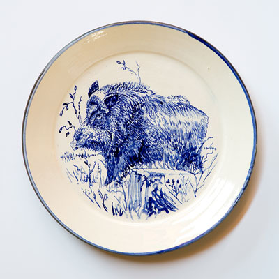 Boar Plate - Click Image to Close