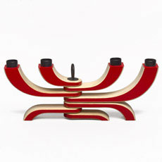 4 Arm Candelabra (Red)