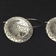 Blossom Sterling Discus Earrings