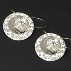 Citrus Yin Sterling Discus Earrings