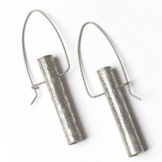 Citrus Circle Sterling Tubo Earrings