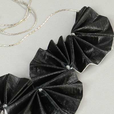 Black Material Necklace