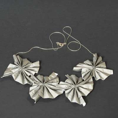 Silver Material Necklace