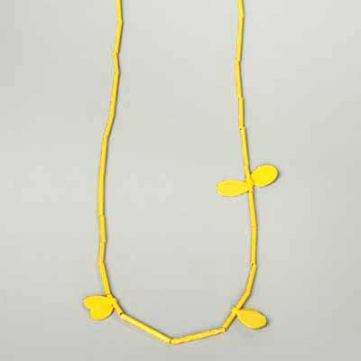 Yellow Leaf Necklace